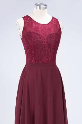 Sexy A-line Flowy Lace Jewel Sleeveless Hollowout Floor-Length Bridesmaid Dress UK UK_5