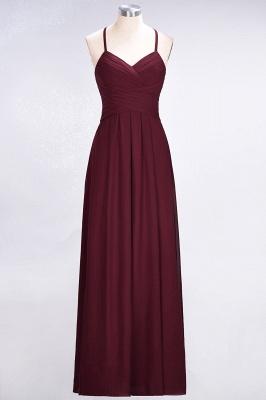 Sexy A-line Flowy Halter Alluring V-neck Sleeveless Floor-Length Bridesmaid Dress UK UK with Ruffles_2
