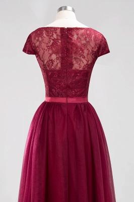 A-Line Light Chiffon Jewel Sleeveless Sweep Train Bridesmaid Dress UKes UK UK with Ruffles_6