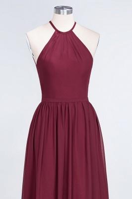 Sexy A-line Flowy Halter Sleeveless Floor-Length Bridesmaid Dress UK UK with Ruffles_4