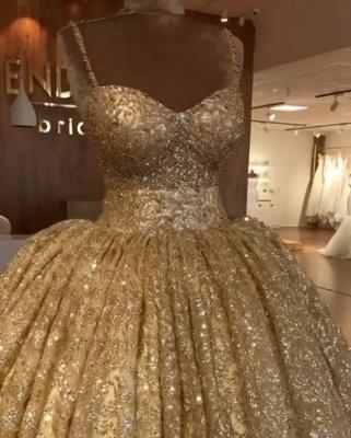 Luxurious Spaghetti Straps SleevelssBall Gown Crystals Prom Dress UKes UK UK_1