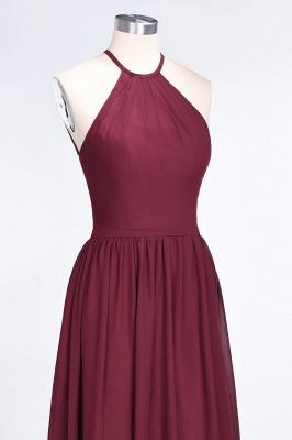 Sexy A-line Flowy Halter Sleeveless Floor-Length Bridesmaid Dress UK UK with Ruffles_5