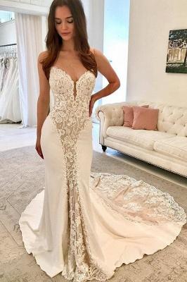 Sexy Spaghetti Straps Sleeveless Appliques Elegant Mermaid Prom Dress UK UK_1