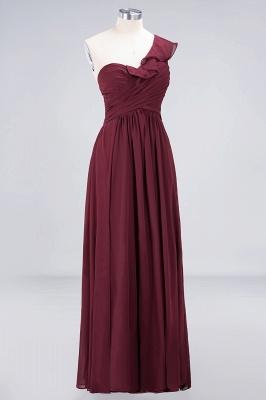 Sexy A-line Flowy One-Shoulder Sweetheart Sleeveless Floor-Length Bridesmaid Dress UK UK with Ruffles_3