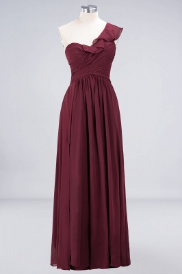Sexy A-line Flowy One-Shoulder Sweetheart Sleeveless Floor-Length Bridesmaid Dress UK UK with Ruffles_1