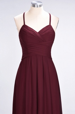 Sexy A-line Flowy Halter Alluring V-neck Sleeveless Floor-Length Bridesmaid Dress UK UK with Ruffles_5