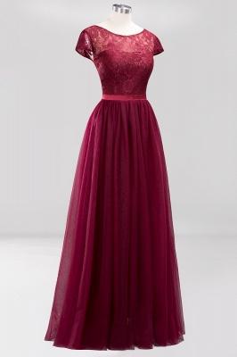A-Line Light Chiffon Jewel Sleeveless Sweep Train Bridesmaid Dress UKes UK UK with Ruffles_3