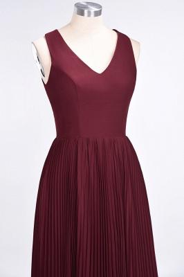 Sexy A-line Satin Flowy Alluring V-neck Sleeveless Floor-Length Bridesmaid Dress UK UK with Ruffles_5