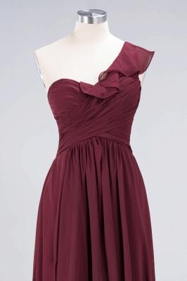 Sexy A-line Flowy One-Shoulder Sweetheart Sleeveless Floor-Length Bridesmaid Dress UK UK with Ruffles_4