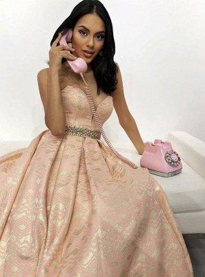 Sexy A-Line Cute strapless Beading Sleeveless Sweep Train Prom Dress UK UK_2