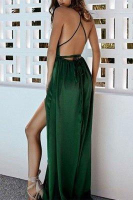 Elegant Hot Deep V-Neck Halter Front Slipt A-Line Prom Dress UK UK_2