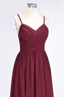Sexy A-line Flowy Spaghetti-Straps Alluring V-neck Sleeveless Floor-Length Bridesmaid Dress UK UK with Ruffles_5