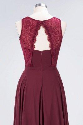 Sexy A-line Flowy Lace Jewel Sleeveless Hollowout Floor-Length Bridesmaid Dress UK UK_6