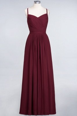 Sexy A-line Flowy Spaghetti-Straps Sweetheart Sleeveless Floor-Length Bridesmaid Dress UK UK with Ruffles_1