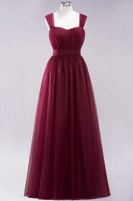 A-Line Light Chiffon Cute strapless Straps Sleeves Sweep Train Bridesmaid Dress UKes UK UK with Ruffles_1