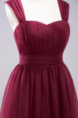 A-Line Light Chiffon Cute strapless Straps Sleeves Sweep Train Bridesmaid Dress UKes UK UK with Ruffles_5