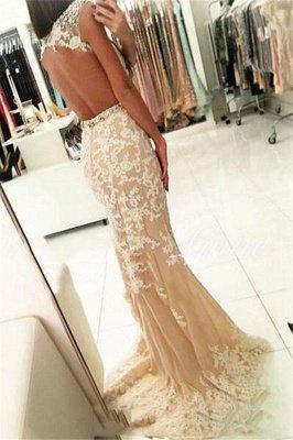 Modern Appliques Scoop Neck Cap Sleeves Elegant Mermaid Prom Dress UK UK_2