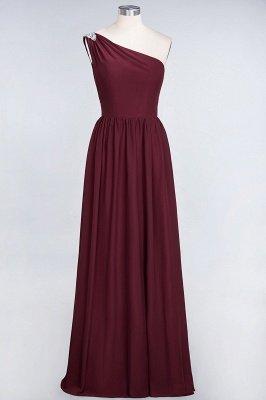 Sexy A-line Flowy One-Shoulder Sleeveless Ruffles Floor-Length Bridesmaid Dress UK UK with Beadings_2