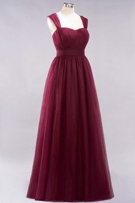A-Line Light Chiffon Cute strapless Straps Sleeves Sweep Train Bridesmaid Dress UKes UK UK with Ruffles_3