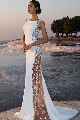 Elegant Mermaid Appliques Jewel Straps Sleeveless Long Prom Dress UK UK_1