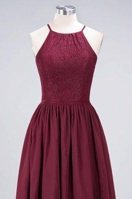 A-line Light Chiffon Lace Jewel Sleeveless Knee-Length Bridesmaid Dress UKes UK UK with Ruffles_4