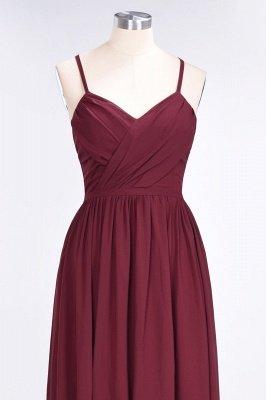 Sexy A-line Flowy Spaghetti-Straps Alluring V-neck Sleeveless Floor-Length Bridesmaid Dress UK UK with Ruffles_4
