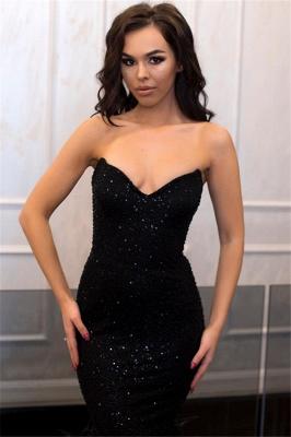 Elegant Mermaid Strapless Sleeveless Long Prom Dress UK with Beadings_3