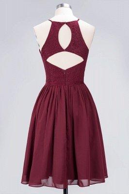 A-line Light Chiffon Lace Jewel Sleeveless Knee-Length Bridesmaid Dress UKes UK UK with Ruffles_2