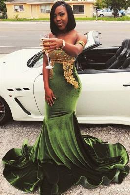 Chic Off-the-Shoulder Appliques Zipper Floor length Elegant Mermaid Prom Dress UKes UK UK_1