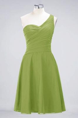 Sexy A-line Flowy One-Shoulder Sweetheart Sleeveless Short length Bridesmaid Dress UK UK with Ruffles_32