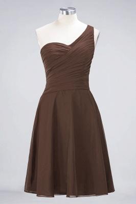 Sexy A-line Flowy One-Shoulder Sweetheart Sleeveless Short length Bridesmaid Dress UK UK with Ruffles_12