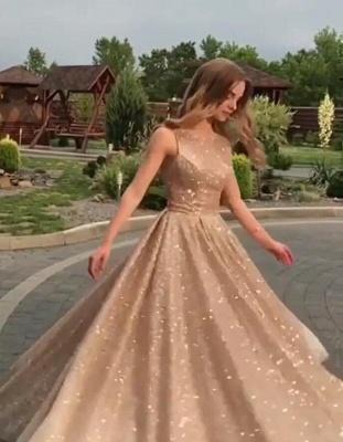 Trendy Sleeveless Sequined A-Line Crew Long Prom Dress UKes UK UK_1