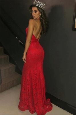 Amazing Halter Sleeveless Elegant Mermaid Deep Alluring V-neck Appliques Prom Dress UKes UK UK_3