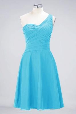 Sexy A-line Flowy One-Shoulder Sweetheart Sleeveless Short length Bridesmaid Dress UK UK with Ruffles_23