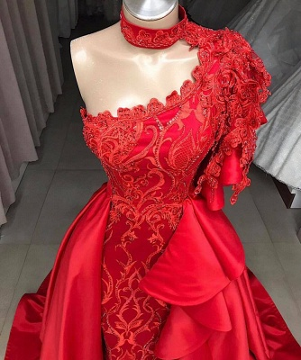 Gorgeous One Shoulder Halter Appliques Sequined A-Line Long Prom Dress UKes UK UK_2