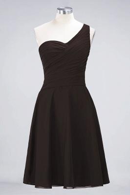 Sexy A-line Flowy One-Shoulder Sweetheart Sleeveless Short length Bridesmaid Dress UK UK with Ruffles_11