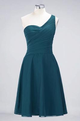 Sexy A-line Flowy One-Shoulder Sweetheart Sleeveless Short length Bridesmaid Dress UK UK with Ruffles_26