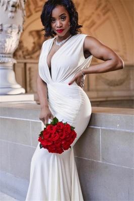 Chic Deep V-Neck Sleeveless Straps Elegant Mermaid Long Prom Dress UKes UK UK_4