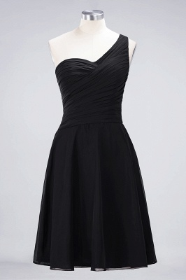 Sexy A-line Flowy One-Shoulder Sweetheart Sleeveless Short length Bridesmaid Dress UK UK with Ruffles_28