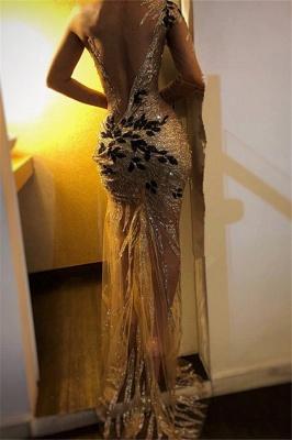 Gorgeous One Shoulder V-Neck Column Backless Long Prom Dress UKes UK UK_3