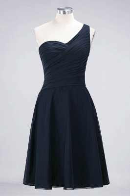 Sexy A-line Flowy One-Shoulder Sweetheart Sleeveless Short length Bridesmaid Dress UK UK with Ruffles_27