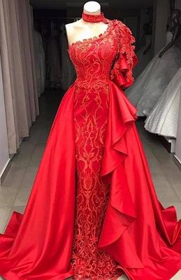 Gorgeous One Shoulder Halter Appliques Sequined A-Line Long Prom Dress UKes UK UK_3
