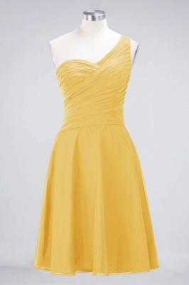 Sexy A-line Flowy One-Shoulder Sweetheart Sleeveless Short length Bridesmaid Dress UK UK with Ruffles_16