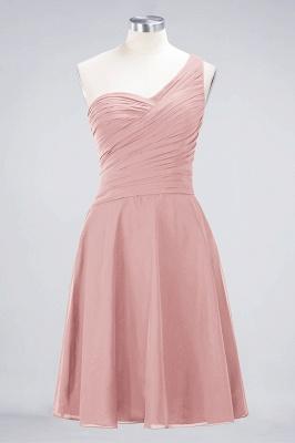 Sexy A-line Flowy One-Shoulder Sweetheart Sleeveless Short length Bridesmaid Dress UK UK with Ruffles_6