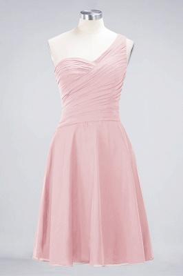 Sexy A-line Flowy One-Shoulder Sweetheart Sleeveless Short length Bridesmaid Dress UK UK with Ruffles_3