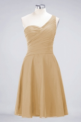 Sexy A-line Flowy One-Shoulder Sweetheart Sleeveless Short length Bridesmaid Dress UK UK with Ruffles_13