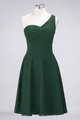 Sexy A-line Flowy One-Shoulder Sweetheart Sleeveless Short length Bridesmaid Dress UK UK with Ruffles_30