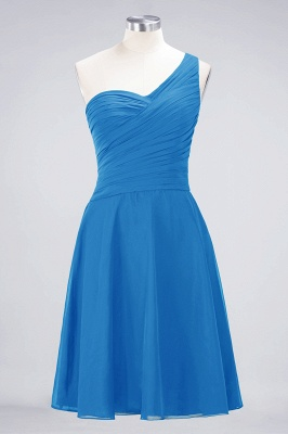 Sexy A-line Flowy One-Shoulder Sweetheart Sleeveless Short length Bridesmaid Dress UK UK with Ruffles_24