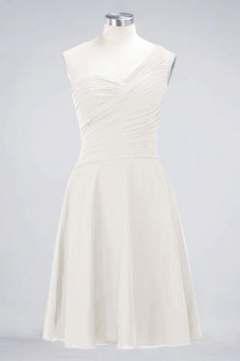 Sexy A-line Flowy One-Shoulder Sweetheart Sleeveless Short length Bridesmaid Dress UK UK with Ruffles_2