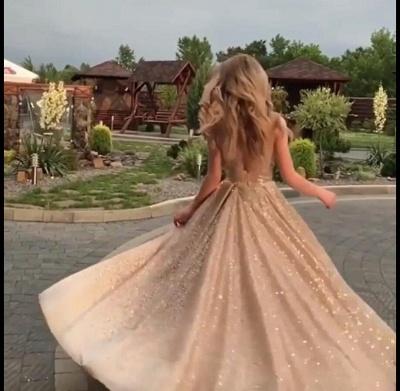 Trendy Sleeveless Sequined A-Line Crew Long Prom Dress UKes UK UK_4